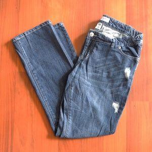 Distressed maternity jeans by Liz Lange